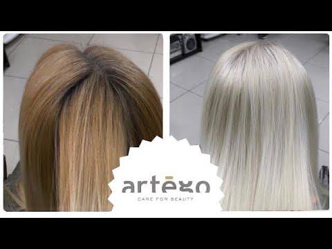 Осветление крем краской ранее окрашенных волос. Блонд БЕЗ ПОРОШКА! Artego/Артего.