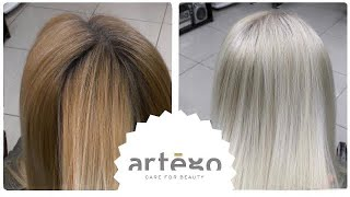 Lightening cream paint previously colored hair. Blonde WITHOUT bleach! Artego.