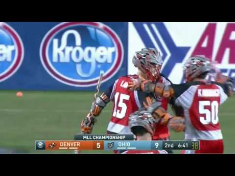 2016 MLL Championship Denver Outlaws vs Ohio Machine