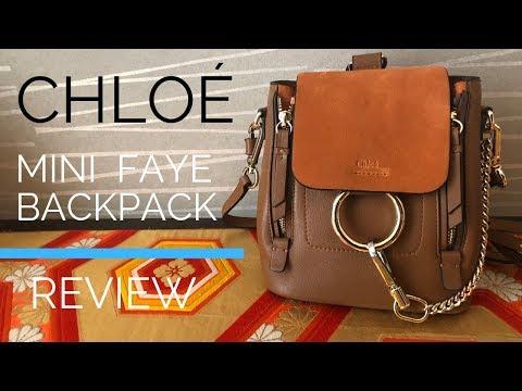d751bcdcbdd Chloé Faye Mini Backpack REVIEW - Is it a Fake?? - YouTube