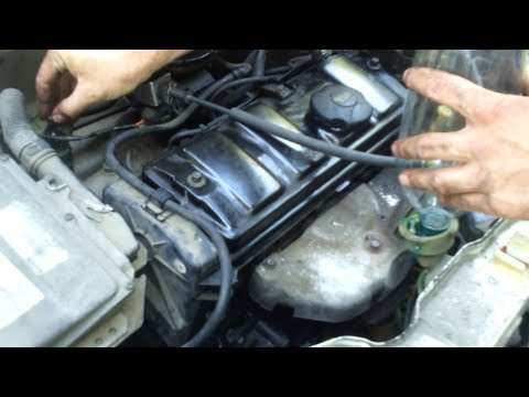How to remove the air entried in cooling circuit [Peugeot 106 car]