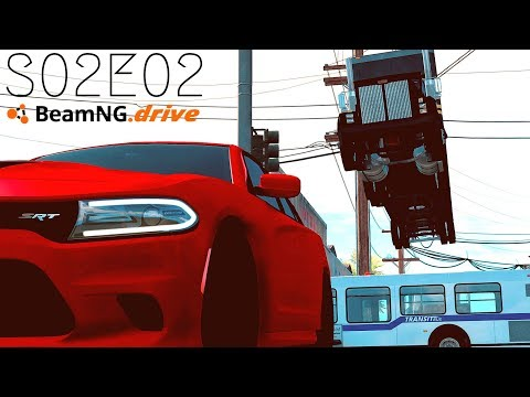 Beamng Drive Movie: Crazy City Police Chase (+Sound Effects) |Part 12| - S02E02