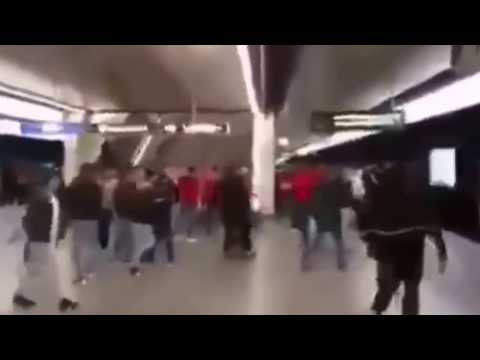 Albania serbia news in france - and Albanian and Serbian fans fighting on the subway!