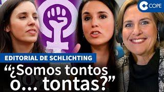 """Schlichting estalla contra las feministas: """"Parece que ser mujer está reñido con el sentido común"""""""