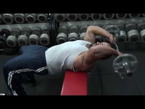 Bent Arm Barbell Pullover - Lat Exercises - YouTube