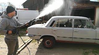 Polski Fiat 125p FSO 1500   Mycie I Sprzątnie Po 20 Latach W Szopie