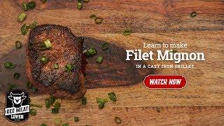 Filet Mignon Steak in Cast Iron Skillet - EASY STEAK RECIPE!!