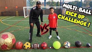 MULTI-BALL FOOTBALL CHALLENGE!! KICK UP EDITION!!