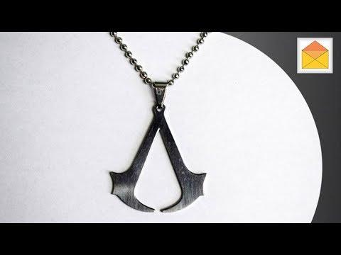 Assassin's Creed Insignia Logo Symbol Metal Necklace Pendant