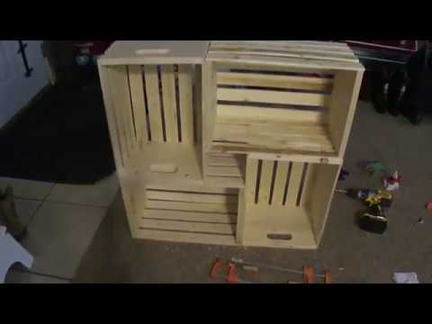 DIY, Wooden Crate Closet Shelves