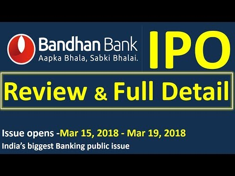 Bandhan Bank IPO full detail & review | Bandhan bank IPO | u