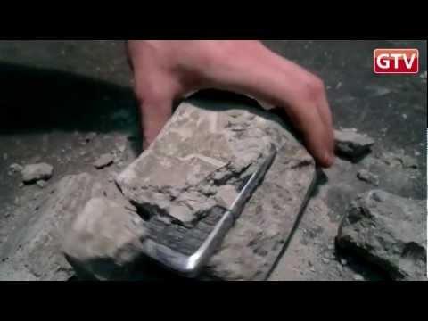 Конкурс GTV: Краш-тест телефона Nokia E51 - окаменей
