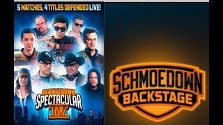 Schmoedown Spectacular SPOILERS with Harloff! Schmoedown Backstage # 3