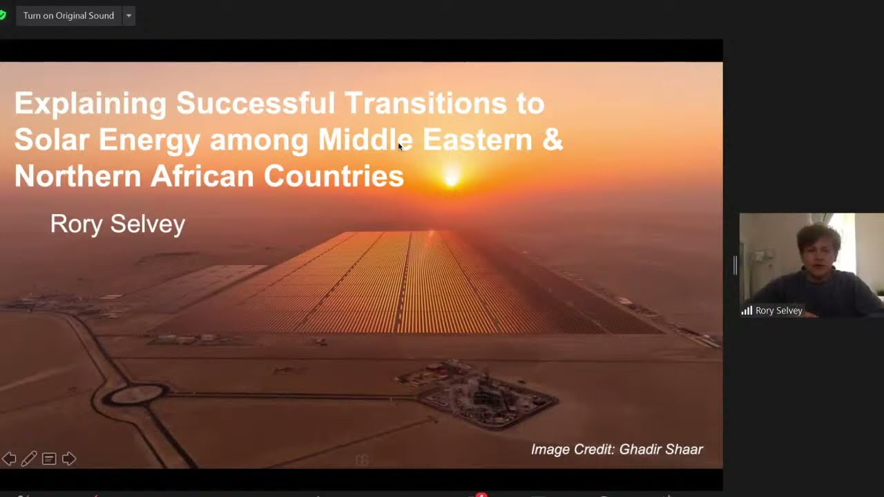 Rory Selvey - Explaining Successful Transitions to Solar Energy among MENA countries