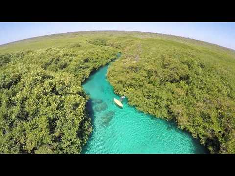 Best Beaches and Cenotes Riviera Maya Casa Cenote -Tank Ha III view from the air