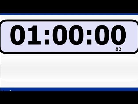 Cronómetro 1:00:00 a 00:00 (reversa)