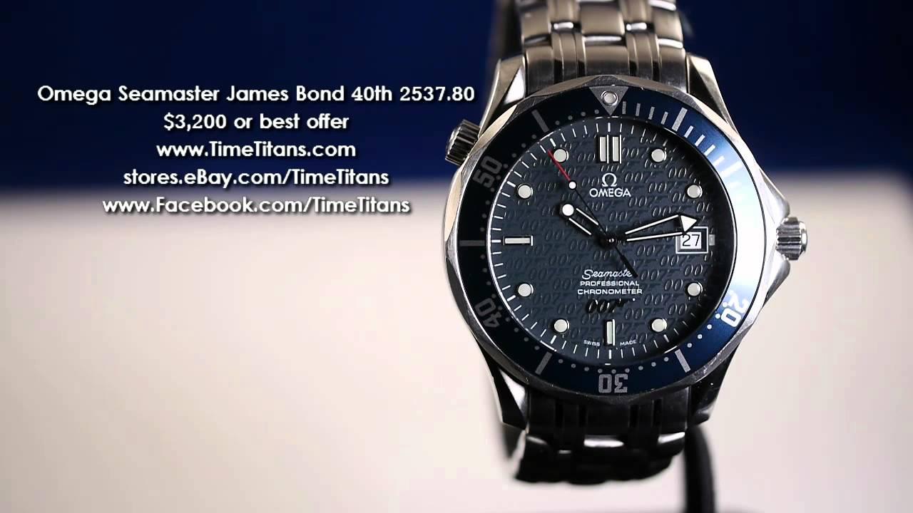 5268f9cadf7 Omega Seamaster James Bond 40th Limited 2537.80 - YouTube