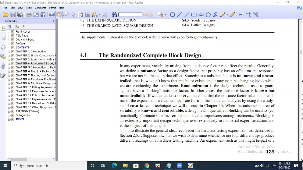 Randomized Complete Block Design Part1 Youtube