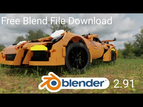 Blender 2.91 - Lego Porsche - Free Download Blend File