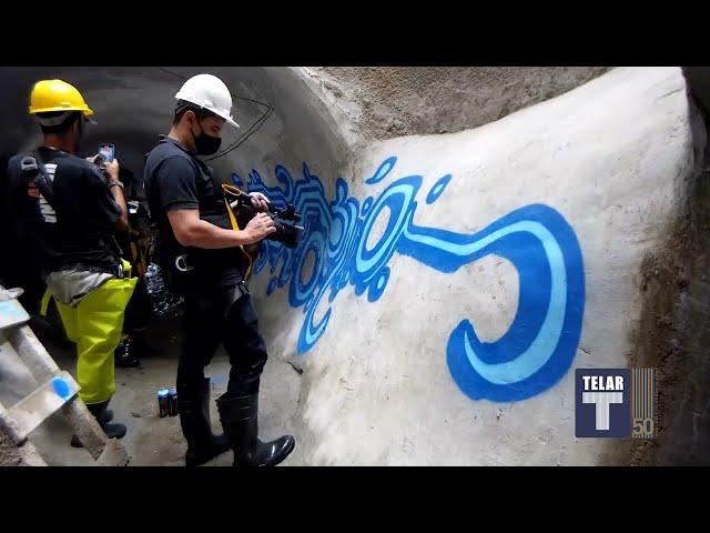 Arte no Túnel • Zezão nos subterrâneos de águas pluviais no bairro de Santa Cecília