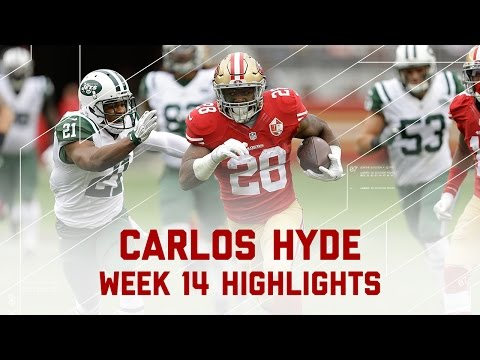 Carlos Hyde Churns Out 193 Yards!   Jets vs. 49ers   NFL Week 14 Player Highlights