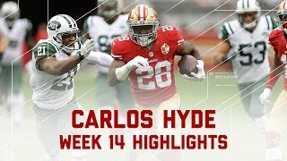 Carlos Hyde Churns Out 193 Yards! | Jets vs. 49ers | NFL Week 14 Player Highlights