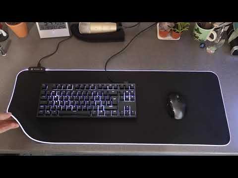Let's Review - Cheapo Amazon RGB Mouse mat