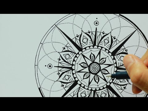 Mandala | Heart compass | Tattoo design :: Ulrike Hirsch