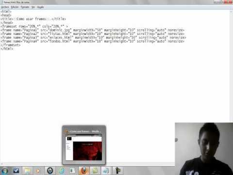 Como Hacer Frames En Documentos Html Ejemplo Youtube