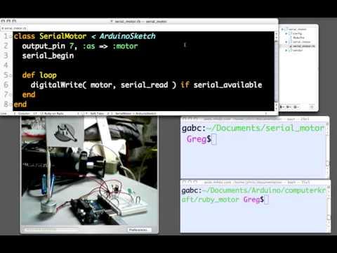 RAD Demo #2: Ruby Arduino Development Serial Communication