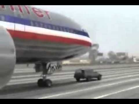 Airplane Lands on Jeep  on Freeway (405-The Movie)