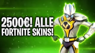 2.500€ AUSGEGEBEN! ALLE SKINS IN FORTNITE! 🤑 | Fortnite: Battle Royale