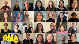 Medical staff choir performs Bruno Mars Count On Me l GMA Digital