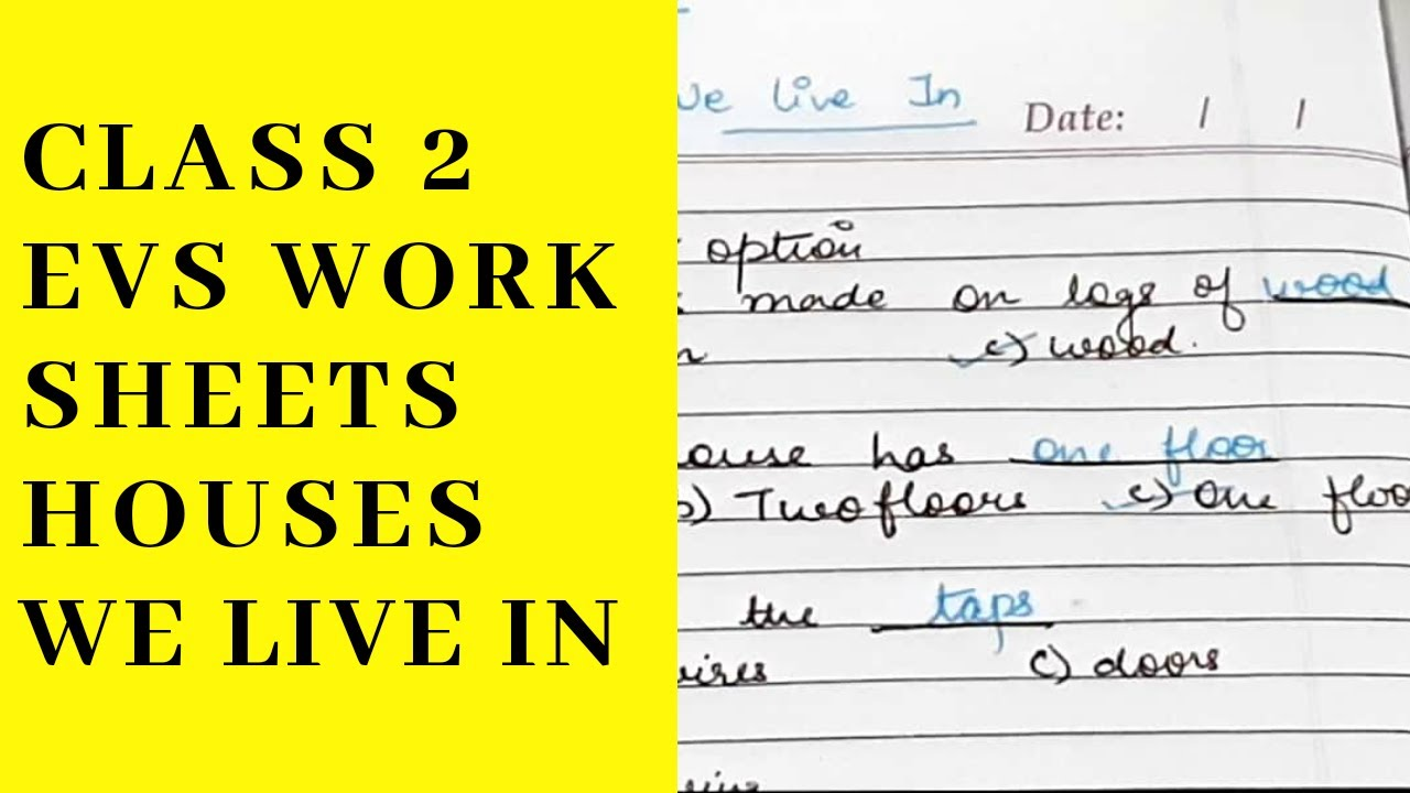 CLASS 2 EVS WORKSHEETS HOUSES WE LIVE IN - YouTube [ 720 x 1280 Pixel ]