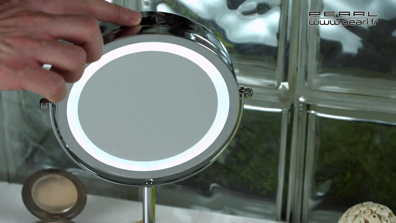 Nc2355 Miroir Grossissant X3 Lumineux Sur Pied Youtube