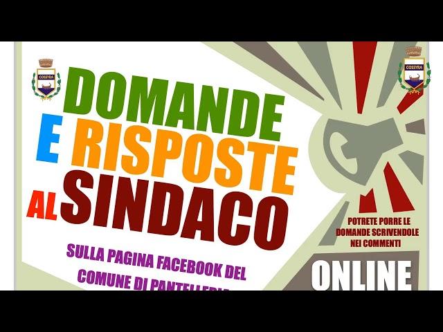 17-05-2021 COMUNICAZIONI DEL SINDACO