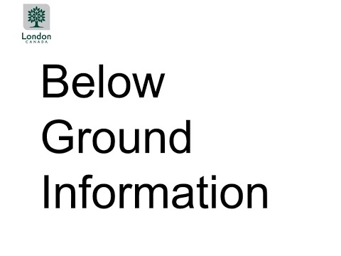 Presentation 1: Below Ground Project Information for Foster Avenue and Upper Avenue
