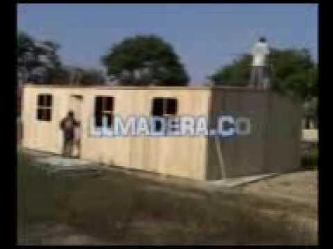 Fabricacion Y Construccion De Casas De Madera En Peru Youtube
