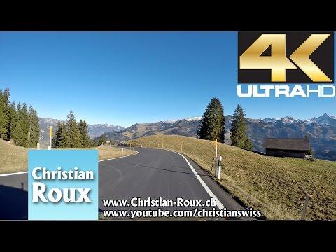 1-2X UHD - Switzerland 304 (Camera on board): Col du Jaun depuis Bulle (Hero4)