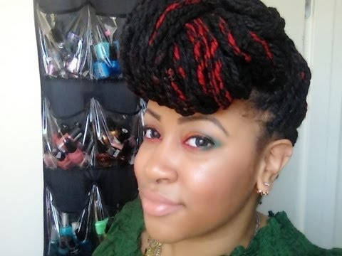 twisting hair styles yarn twists 4 simple styles 5825