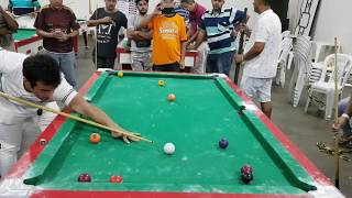 Baianinho de Mauá X Cobrinha, semi final do torneio de sinuca de Coromandel JAN/2019