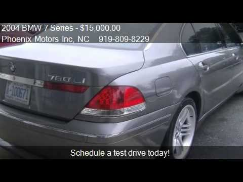 2004 bmw 7 series 760li for sale in raleigh nc 27610. Black Bedroom Furniture Sets. Home Design Ideas