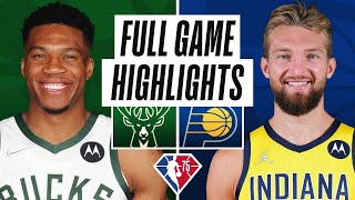 BUCKS at PACERS   FULL GAME HIGHLIGHTS   October 25, 2021