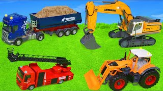 Excavator, Dump Truck, Tractor, Police Cars & Fire Trucks RC Toy Vehicles for Kids