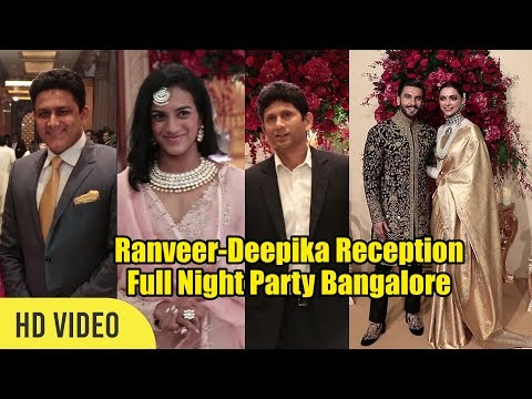 Deepika Padukone and Ranveer Singh First Reception After Marriage | Anil Kumble, PV Sindhu
