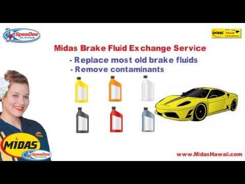 brake fluid exchange video tip Midas hawaii auto repair service
