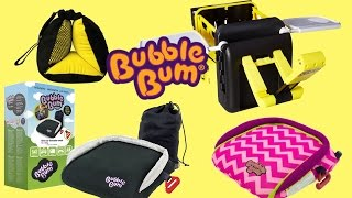Bubblebum Kids Portable, Inflatable Car Booster Seat,   Sneck Travel Pillow & In-Car Organiser