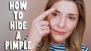 HOW TO HIDE A PIMPLE // Grace Helbig