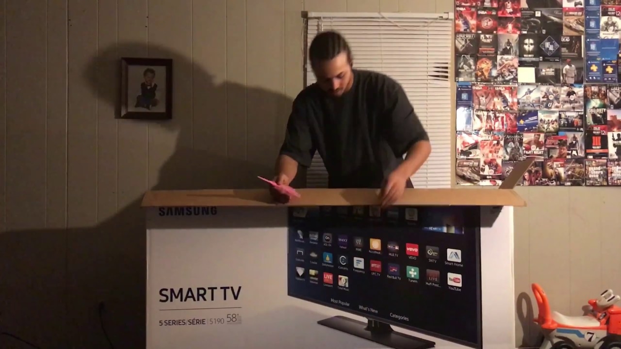 a74e466a8a1 VLOG UNBOXING NEW 58 INCH SAMSUNG SMART TV BLACK FRIDAY VLOG - YouTube