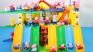 Peppa Pig Lego House Toys For Kids - Lego House With Water Slide Creations Toys #9